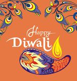 Happy Diwali festival background illustration Stock Photography