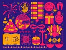 Happy Diwali festival background kitsch art India Royalty Free Stock Photography