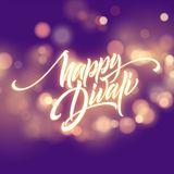 Happy Diwali Festival Bright. Flame Glowing Letters Design Element. Vector illustration. EPS10 royalty free illustration