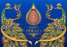 Happy Diwali Festival Card Royalty Free Stock Photography