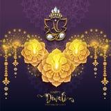 Happy Diwali festival card vector illustration