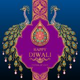 Happy Diwali festival card royalty free illustration
