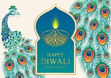 Happy Diwali festival card royalty free illustration