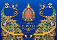 Happy Diwali festival card stock illustration