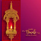 Happy Diwali festival card stock illustration