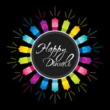 Happy diwali festival design. Happy diwali festival greeting design with colorful lighting