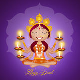Happy Diwali Festival Stock Photography