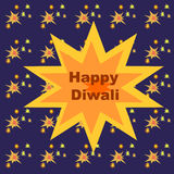 Happy diwali with firecrackers. Happy diwali greetings with firecrackers Stock Photo