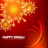 Happy diwali fireworks Stock Photography