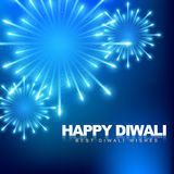 Happy diwali fireworks. Vector happy diwali fireworks background