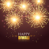 Happy diwali fireworks Royalty Free Stock Photography