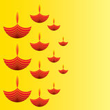 Happy diwali greeting card design Royalty Free Stock Image