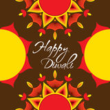 Happy diwali greeting card design Royalty Free Stock Photos