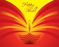 Happy diwali greeting card design Royalty Free Stock Photo
