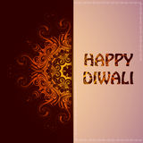 Happy Diwali greeting card Royalty Free Stock Photo