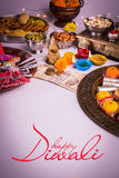 Happy diwali greeting card Stock Photo
