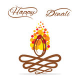 Happy diwali greeting design Royalty Free Stock Image