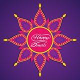 Happy diwali greeting design Royalty Free Stock Photography