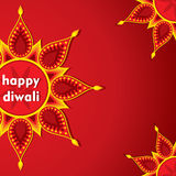 Happy diwali greeting design Royalty Free Stock Photo