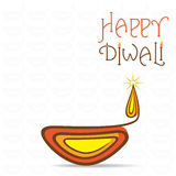 Happy diwali greeting design Royalty Free Stock Photography