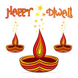 Happy diwali greeting design Stock Image