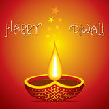 Happy diwali greeting design Stock Photos