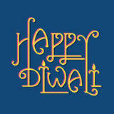 Happy diwali greeting design Stock Images