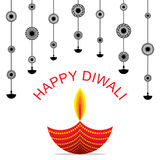 Happy diwali greeting design Stock Photo