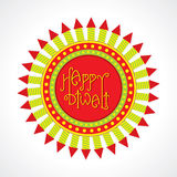 Happy diwali greeting design Royalty Free Stock Images