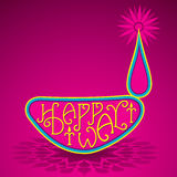 Happy diwali greeting design Stock Photography