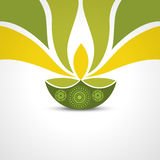 Happy diwali greeting. Vector green style happy diwali design