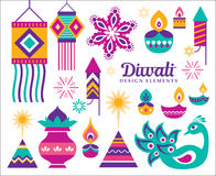 Happy Diwali. Diwali Hindu festival design elements Royalty Free Stock Photography