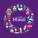 Happy Diwali. Diwali Hindu festival greeting card with modern elements Royalty Free Stock Photo