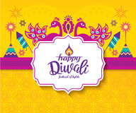 Happy Diwali. Diwali Hindu festival greeting card with modern elements Royalty Free Stock Photography