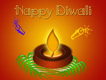 Happy Diwali. Hindu festival  of lights Stock Image