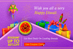 Happy Diwali holiday offer. Vector illustration of Happy Diwali holiday offer