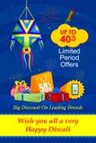 Happy Diwali holiday offer. Vector illustration of Happy Diwali holiday offer Stock Photos