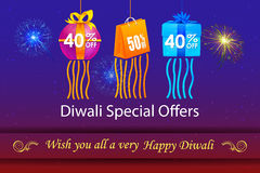 Happy Diwali holiday offer Royalty Free Stock Image