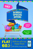 Happy Diwali holiday offer. Vector illustration of Happy Diwali holiday offer Royalty Free Stock Photography