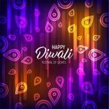 Happy Diwali. Holiday vector illustration of hindu religion event Deepavali. Sale promotional banner. Ads poster template design. Festive light banner vector illustration