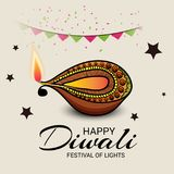 Happy Diwali. Illustration of a Banner for Happy Diwali royalty free illustration