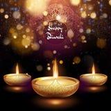 Happy Diwali illustration of burning diya. Holiday background. EPS 10 vector illustration