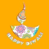Happy Diwali. Illustration of colorful diya for Happy Diwali stock illustration