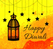Happy Diwali Indian Festival of Lights. Diwali greeting card, invitation. Vector illustration Stock Photos