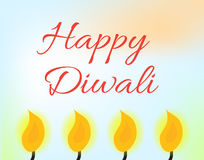 Happy Diwali Indian Festival of Lights. Diwali greeting card, invitation. Vector illustration Royalty Free Stock Images