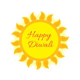 Happy Diwali Indian Festival of Lights. Diwali greeting card, invitation. Vector illustration Royalty Free Stock Photo