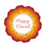 Happy Diwali Indian Festival of Lights. Diwali greeting card, invitation. Vector illustration Royalty Free Stock Image