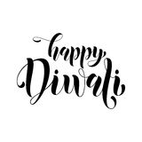 Happy Diwali Indian festival of lights greeting. Happy Diwali Indian festival of lights. Vector Diwali or Deepavali festival greeting card, banner on white Stock Photography