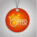 Happy  Diwali  label. Happy Diwali discount tags, stickers or labels in circle Stock Images