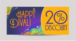 Happy  Diwali  labels. Happy Diwali discount tags, stickers or labels discount card Royalty Free Stock Photo